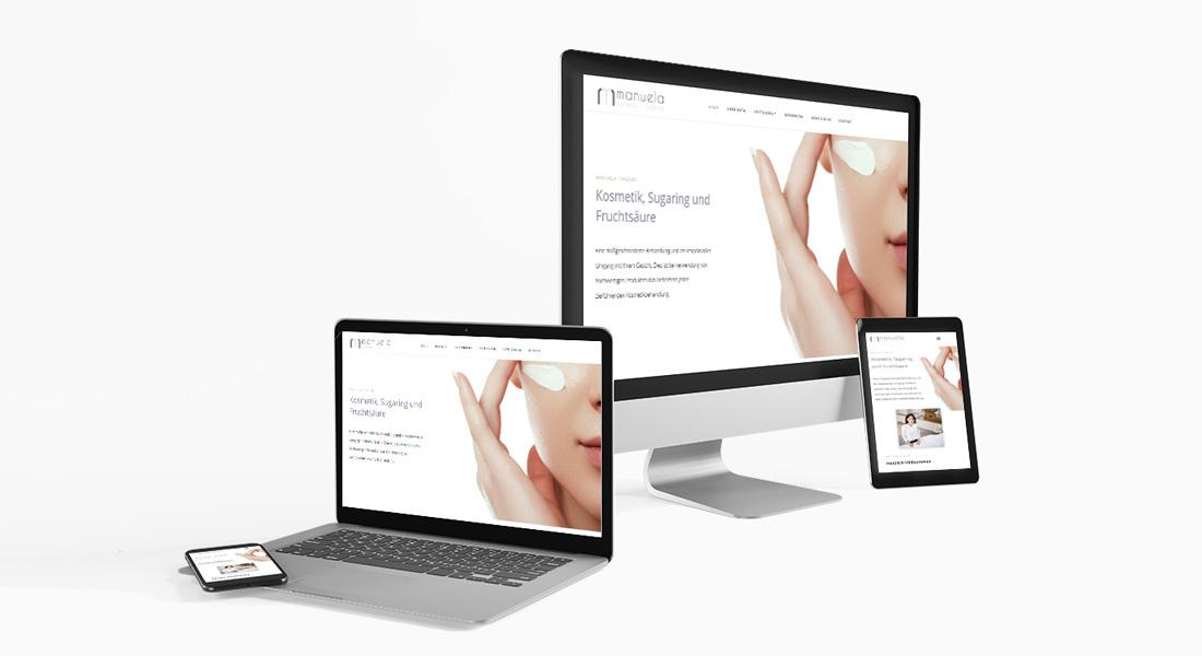 Oh wie schön, meine Webseite ist online! | manu-kosmetik.at